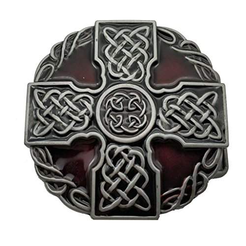 Round Celtic Belt Buckle Trinity Rope Knot Cross Buckles