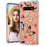MOSNOVO Galaxy S10 Plus Case, Galaxy S10 Plus Cover, Fashion Butterfly Pattern Clear Design Transparent Plastic Hard Back Case with TPU Bumper Protective Case Cover for Samsung Galaxy S10 Plus