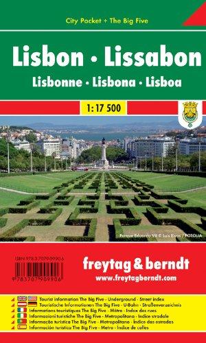 Lissabon, City Pocket + The Big Five (freytag & berndt Stadtpläne)