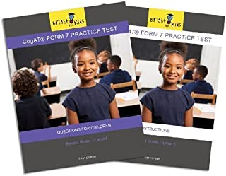 CogAT Form 7 Practice Test - Second Grade (Level 8) by Bright Kids NYC (2011-05-04)