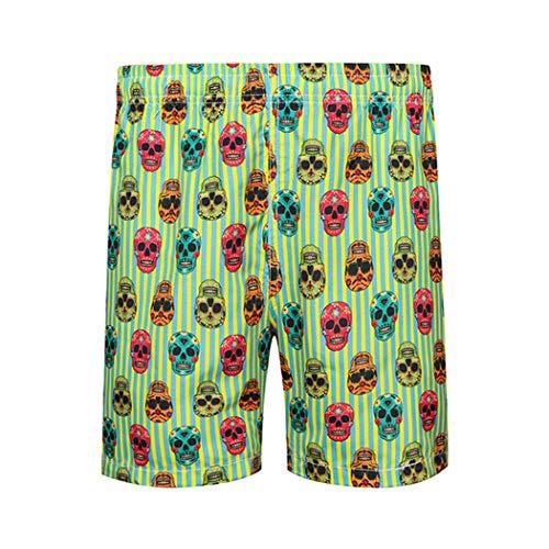 Azastar zwembroek voor heren, grappig, bont, sneldrogend, korte broek, zwembroek, mannen en jongens