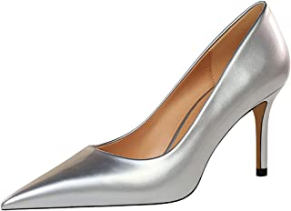 Kaizi Karzi Women Basic Pumps Stiletto Pointed Toe Office Shoes