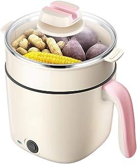 Xyanzi dianzhuguo Sartén eléctrica de la Cocina eléctrica de 1.5L para los Fideos para cocinar en el hogar/Material Antiadherente de Olla Caliente fácil de Limpiar 4 Estilos Rosa/Azul