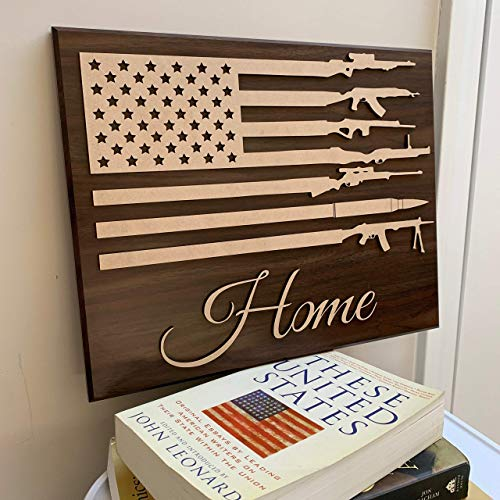 Wooden American Flag Wall Art | Patriotic Decor | Military Retirement Gift | Police Sign