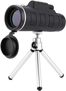 Telescopio monocular Fanville 40X60 telescopio de Alta Potencia HD de Doble Enfoque monocular + trípode + Clip + brújula Mejor Valor para observación de Aves y Senderismo monocular