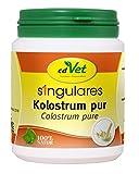 cdVet Naturprodukte Singulares Kolostrum pur 100 g - Hund, Katze, Pferd -  reich an Mineralien+Vitaminen+Spurenelementen+Aminosäuren - Stärkung des Immunsystems+Vitalität - appetitanregend -