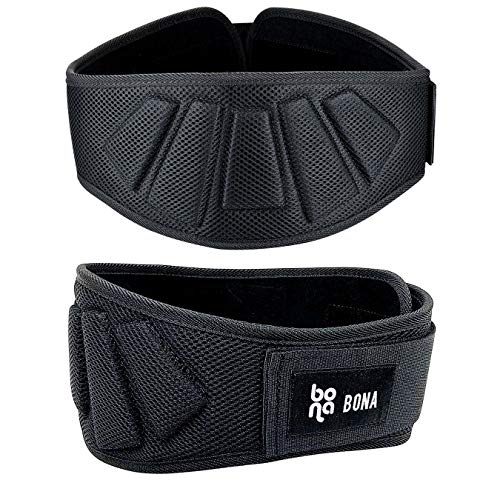 Newbona Fitness Weight Lifting Belt for Men and Woman-Contoured Comfortable 6 Inch Auto-Lock Weight Lifting -Workout Back Support for Lifting, Cross Training and Bodybuilding(Size:M)