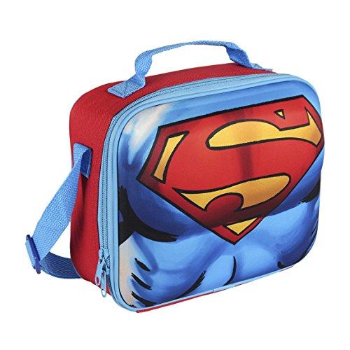Cerdá-2100001616 Sac Isotherme Superman, 2100001616, Multicolore (Multicolor), 28x26x44 Centimeters (W x H x L)