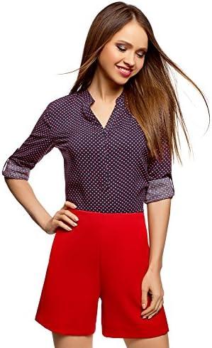 oodji Collection Mujer Blusa Estampada de Viscosa