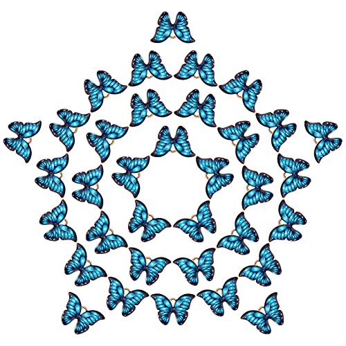 SUNNYCLUE 1 Caja 40 uds, Colgante de Esmalte de Mariposa, Dijes de Aleación de Mariposa para Hacer...