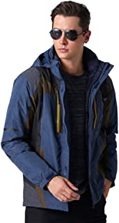 Men's Waterproof Jacket Down Jacket Liner Rain Jacket Breathable Warm Softshell Coat for Hiking, Cycling, Skiing