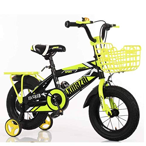 Jiamuxiangsi Kids Bike Voor 2 3 4 Jaar Oude Jongens-Peuter Fiets Met Trainingswielen, Volledige Ketting Guard Back-pedalling Break Balance Bike