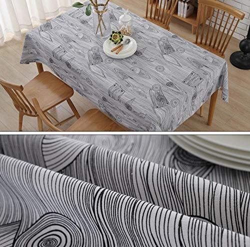 ggzgyz Jardín Toallas de algodón Impreso en Grano de Madera Retro Toalla Mesa Arroz Mantel de Lino de algodón Cubierta Decorativa Cocina Hogar Decoratio