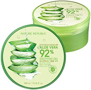 Nature Republic 3 PCS Aloe Vera Soothing Gel, 92% Soothing and Moisture, 300ml, NS17-G