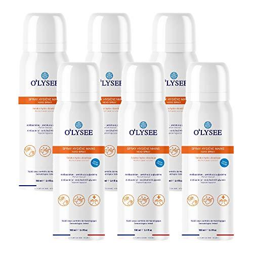 Set 6 Pezzi - Spray Igienizzante Antibatterico O'lysee da 100ml per Mani Made in France