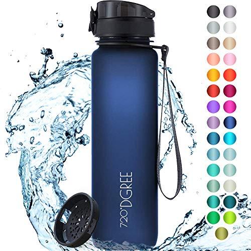 """720°DGREE Trinkflasche """"uberBottle"""" softTouch +Sieb - 1L - BPA-Frei - Wasserflasche für Uni, Sport, Fitness, Fahrrad, Outdoor - Sportflasche aus Tritan - Leicht, Bruchsicher, Nachhaltig"""