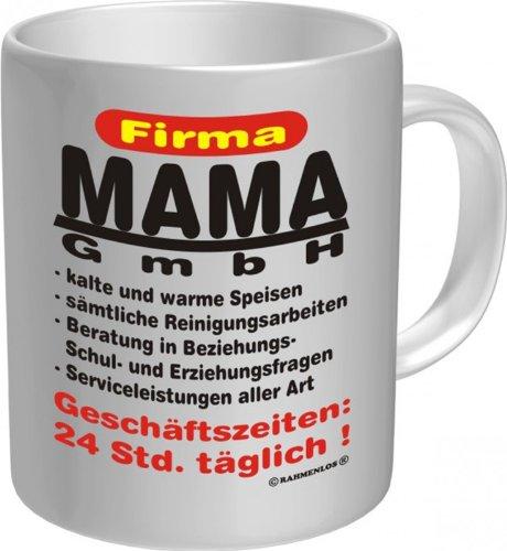 Witzige Geschenk-Tasse: Mama GmbH Kaffeebecher im Geschenkkarton
