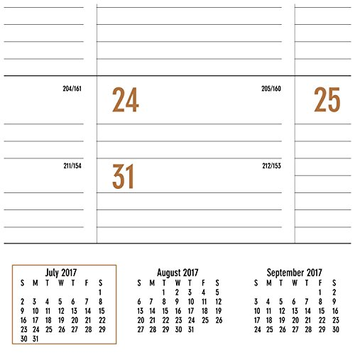 "AT-A-GLANCE Academic Desk Pad Calendar, July 2017 - June 2018, 22"" x 17"", Contemporary (AY24X00) Photo #3"