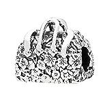 QIAMUCJC Plata 925 CODEDOG Real Plata de Ley Mujer Bolso Charm Fit Original mmBracelets Beads Fabricación de Joyas CMC