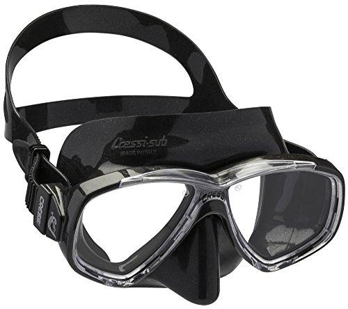 Cressi Perla Mask Máscara Vidrio separada para Pesca, apnea, Snorkel y Buceo, Unisex Adulto