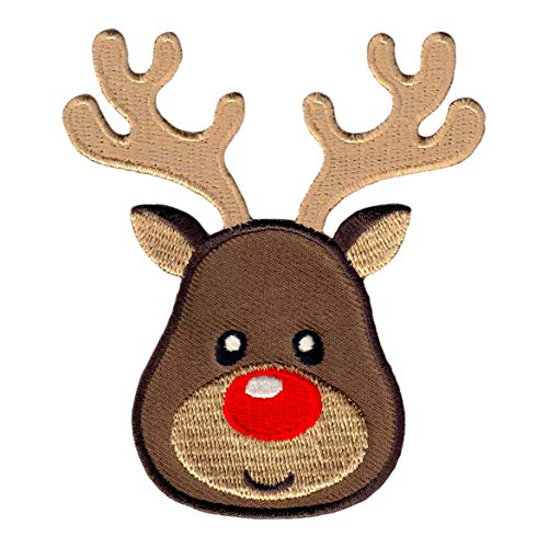 PatchMommy Reindeer Patch Christmas, Iron On/Sew On - Appliques for Kids Children