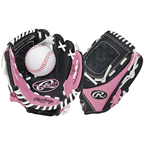 Authentic Baseball Shop New 2015 Rawlings Girls Pink T-Ball Glove (Ages 6 & Below) Available in...