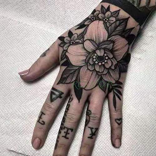 Handaxian 3pcsPegatinas de Tatuaje a Prueba de Agua Espiritual Body Art Girl Female Women's Tattoo 3pcs-10