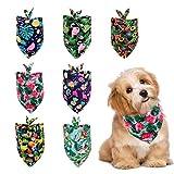Gukasxi 7 pz bandana per cani estate bandana hawaiano sciarpa lavabile triangolo Pet sciarpe regolabile stile foresta pluviale frutta sciarpa fazzoletto per cani di piccola taglia cucciolo gatto