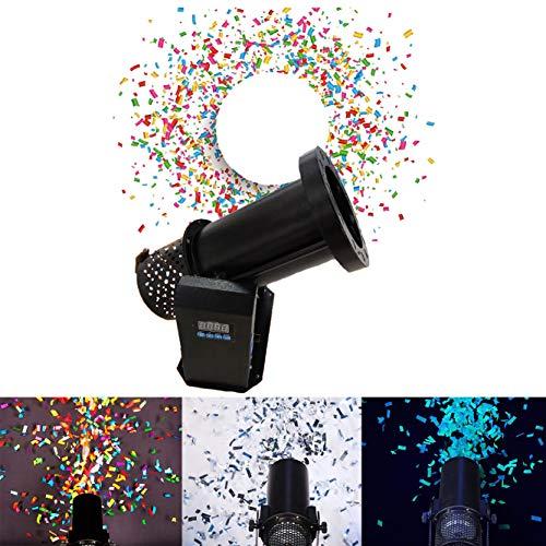 Elektrische Konfetti Maschine 1500W,Maschine Konfetti,DJ Shot Konfetti-Shooter FüR Halloween Party Festival Hochzeit BüHneneffekt,Black