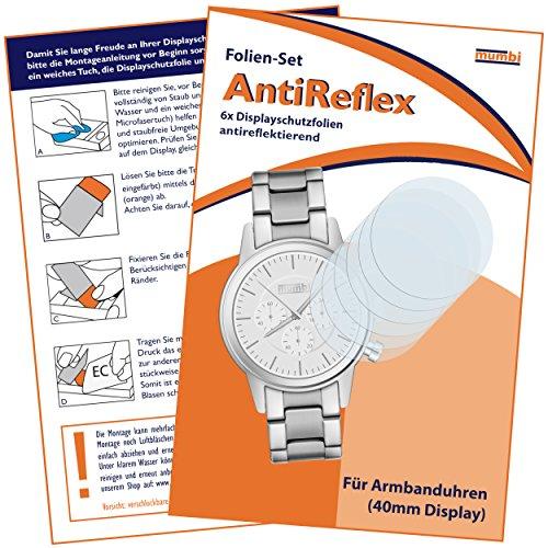 mumbi Schutzfolie kompatibel mit Armbanduhr 40mm Folie matt, Displayschutzfolie (6X)