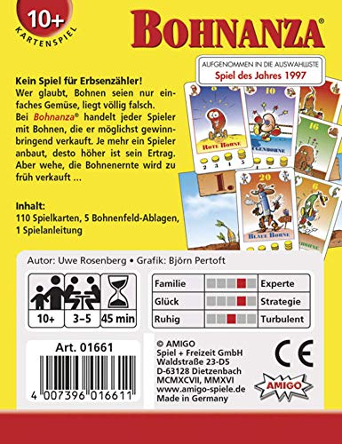 Amigo 01661Bohnanza, Juego de mesa (en idioma alemán) , Modelos/colores Surtidos, 1 Unidad