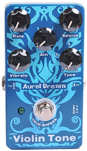 Aural Dream Violin Tone Synthesizer Guitar Effects Pedal based on organ including harmonic violin,concert violin,solo violin 8'and violin 8' with Vibrato,Swell and Rotary spesker