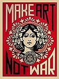 Close Up Shepard Fairey Kunstdruck Make Art Not War! (46cm