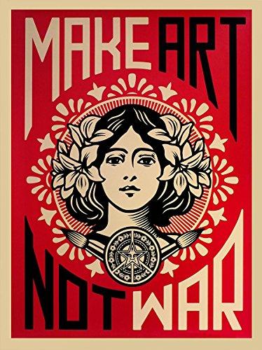 Close Up Shepard Fairey Kunstdruck Make Art Not War! (46cm x 61cm)
