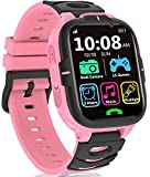 Kids Smart Watches Girls Boys- Kids Smartwatch with Call 2 Cameras 15 Games Music Player Alarm Flashlight 12/24 hr, HD Touch Screen Kids Birthday Educational Learning Toys Age 3-14 ( Pink)