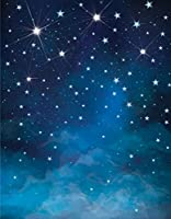5x7ft(1.5X2.2メートル) 写真/撮影用背景布 大型商品や人物撮影用 背景布 夜の星空 D-6549