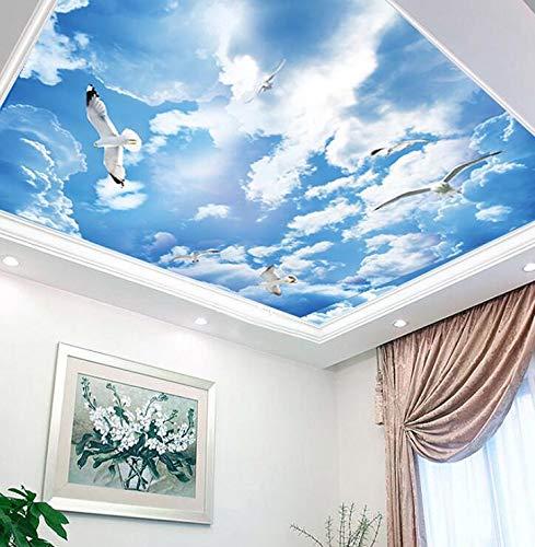 Stereoskopische 3D-Decke, Tapete, blaue Kinderzimmer-Tapete, Hintergrundbild für die Deckenverkleidung der Schlafzimmer, 200 × 175 cm