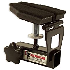 Converts P3 Ultimate Gun Vise into a Shooting Rest in seconds. Adjusts to accommodate both rifles and pistols. Marine carpet on Rest Pad is durable and protects firearms. Heavy-duty steel construction. Made in the USA!