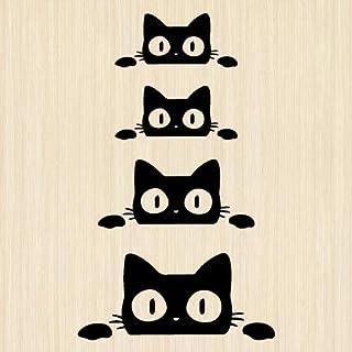 ウォールステッカー 猫 黒猫 ネコ ねこ 動物 ペット シール ブラック