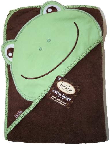 Extra Large 100 cm X 75 cm Absorbent Hooded Towel, Frog, Frenchie Mini Couture