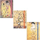Paquete de 3 Diarios con Tapa Dura - Klimt