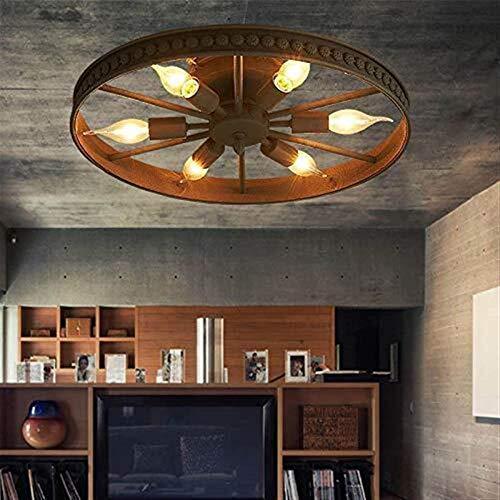 Industria Plafondlamp, antieke ring, design in de slaapkamer, coffee-winkel, kinderlamp, vintage, rodonda, private esperience uffici ijzeren plafondlamp incl.