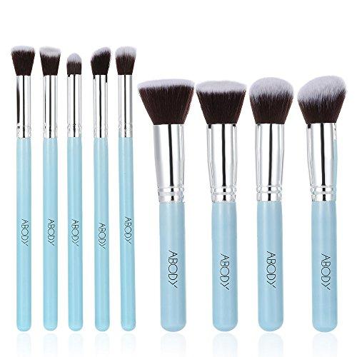 Brochas de Maquillaje Profesional, Abody 9 pcs Pinceles de Maquillaje para Base de...