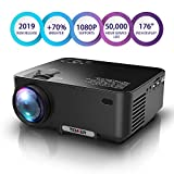 TENKER Upgrade Lumens Mini Projector, with Big Display LED Full HD Video Projector, Compatible with...