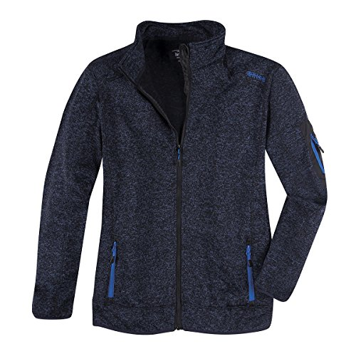 Brigg XXL Fleecejacke in Strickoptik Navy Melange, XL Größe:3XL
