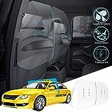 TZUTOGETHER Car Taxi Partition sneeze guard shield,3mm d'épaisseur Cloison de protection transparente en acrylique,entre la première rangée et la deuxième rangée,pour berline,covoiturage-60 * 60cm