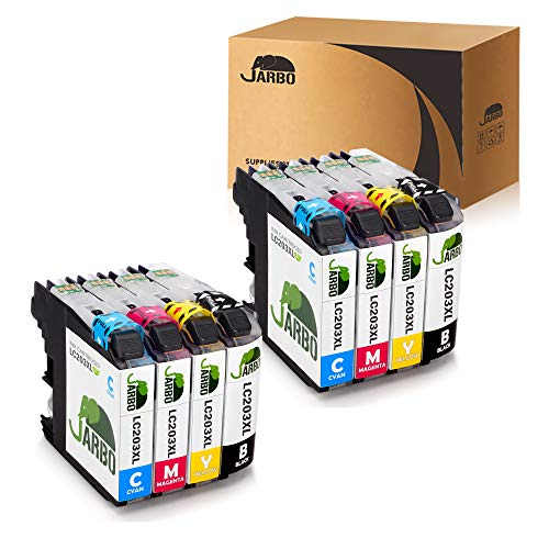 JARBO Compatible Ink Cartridge Replacement for Brother LC203XL, 2 Sets, Used in MFC-J880DW MFC-J680DW MFC-J480DW MFC-J460DW MFC-J5520DW MFC-J4420DW MFC-J4620DW MFC-J5720DW MFC-5620DW