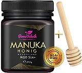 Manuka Honig | MGO 514+ (UMF 15+) | 250g | Das ORIGINAL aus NEUSEELAND | HOCHAKTIV, PUR, ROH & ZERTIFIZIERT | Premium Qualität 100% natürlich | INKL. GRATIS...