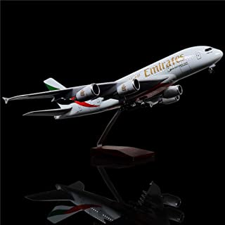 LESES 1:160 Scale LED Light Model Airplane United Arab Emirates Airbus 380 18 inches Resin Display Plane Model