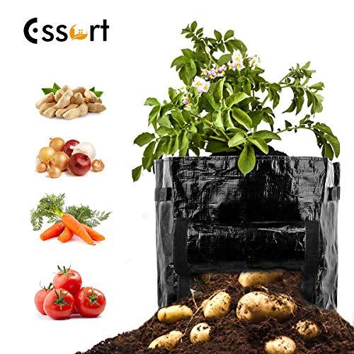 Essort toilettas voor aardappelen, PE, met handgrepen, 30 l, plantenzak voor groenten, 35 (H) x 34 (D) cm